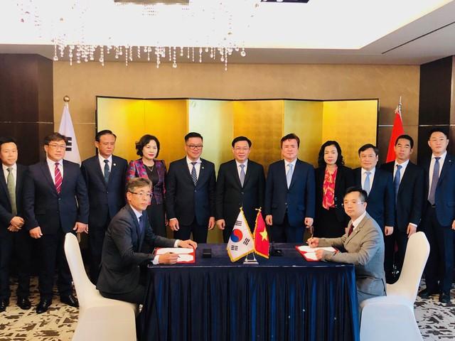 Phó Thủ tướng Vương Đình Huệ chứng kiến An Phát đẩy mạnh hợp tác nghiên cứu và sản xuất nguyên liệu sinh học phân huỷ hoàn toàn tại Hàn Quốc - Ảnh 1.
