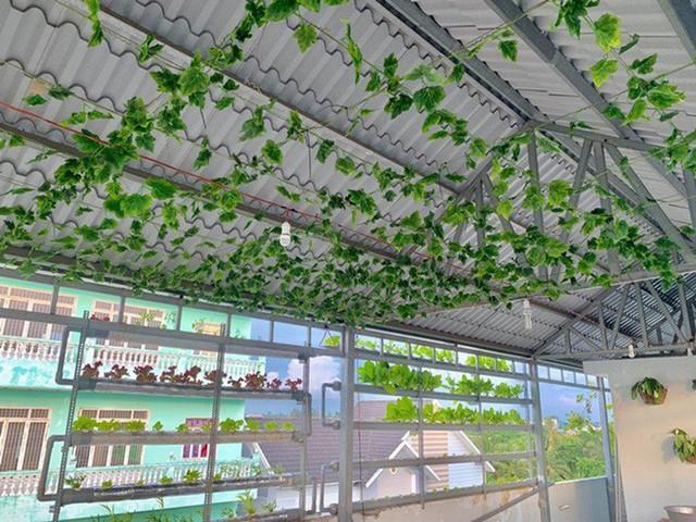 Vườn rau thủy canh ăn không xuể trên sân thượng nhà diễn viên Kha Ly - Thanh Duy - Ảnh 7.