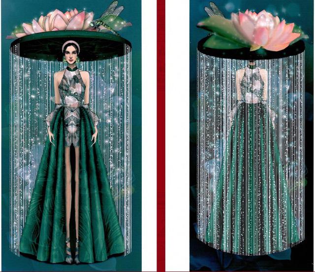 Thật khó tin khi mẫu trang phục Bàn thờ đứng thứ hai bình chọn cho Hoàng Thùy thi Miss Universe - Ảnh 4.