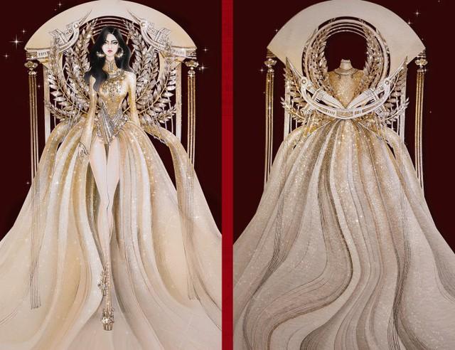 Thật khó tin khi mẫu trang phục Bàn thờ đứng thứ hai bình chọn cho Hoàng Thùy thi Miss Universe - Ảnh 3.