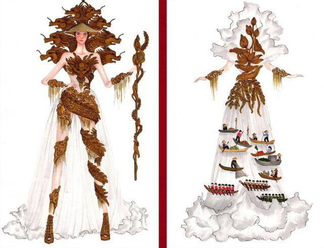Thật khó tin khi mẫu trang phục Bàn thờ đứng thứ hai bình chọn cho Hoàng Thùy thi Miss Universe - Ảnh 7.