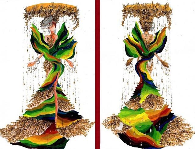 Thật khó tin khi mẫu trang phục Bàn thờ đứng thứ hai bình chọn cho Hoàng Thùy thi Miss Universe - Ảnh 8.