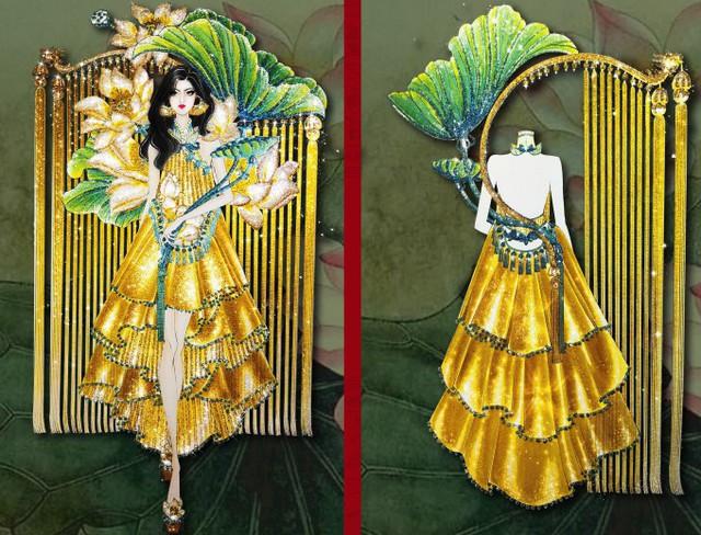 Thật khó tin khi mẫu trang phục Bàn thờ đứng thứ hai bình chọn cho Hoàng Thùy thi Miss Universe - Ảnh 9.