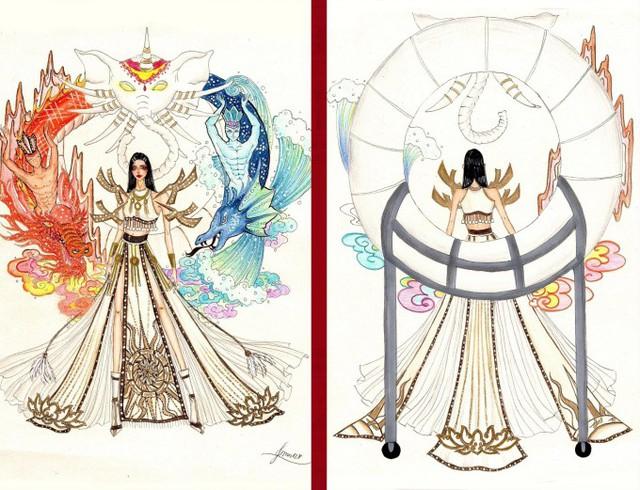 Thật khó tin khi mẫu trang phục Bàn thờ đứng thứ hai bình chọn cho Hoàng Thùy thi Miss Universe - Ảnh 1.