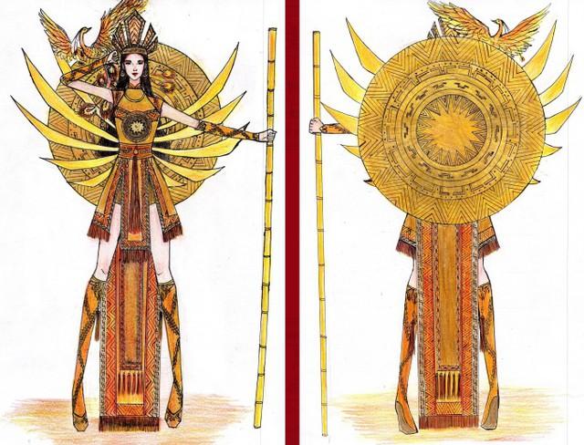 Thật khó tin khi mẫu trang phục Bàn thờ đứng thứ hai bình chọn cho Hoàng Thùy thi Miss Universe - Ảnh 5.
