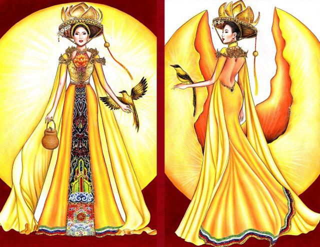 Thật khó tin khi mẫu trang phục Bàn thờ đứng thứ hai bình chọn cho Hoàng Thùy thi Miss Universe - Ảnh 6.