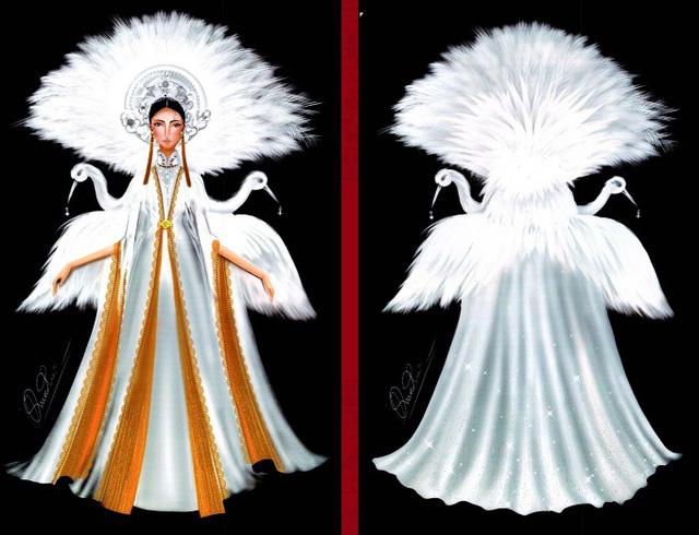 Thật khó tin khi mẫu trang phục Bàn thờ đứng thứ hai bình chọn cho Hoàng Thùy thi Miss Universe - Ảnh 10.