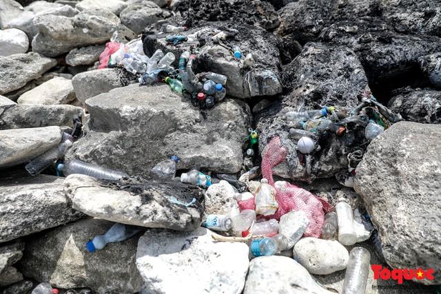 Bờ biển Lý Sơn vẫn ngập rác thải sau nhiều năm nỗ lực xử lý - Ảnh 6.