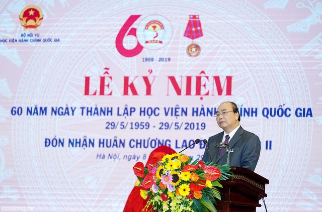 Thủ tướng dự lễ kỷ niệm 60 năm thành lập Học viện Hành chính Quốc gia - Ảnh 1.