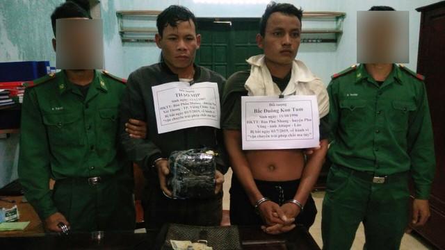 Hai đối tượng người Lào buôn ma túy đá bị bắt ở biên giới - Ảnh 1.