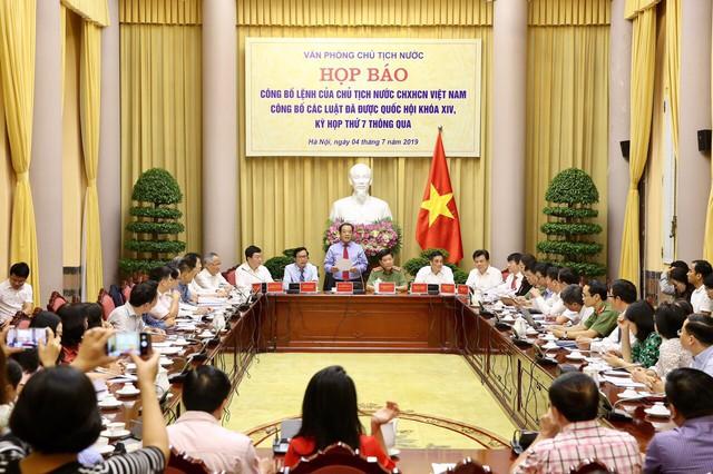 Công bố lệnh của Chủ tịch nước về bảy luật - Ảnh 1.