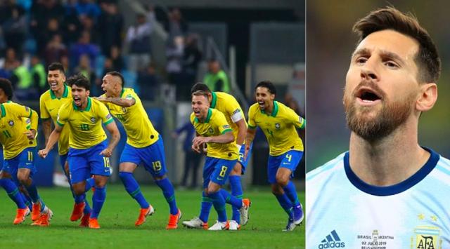 Bị đau bụng, hậu vệ Brazil khoe vẫn đủ sức làm điều này với Lionel Messi tại Copa America 2019 - Ảnh 1.