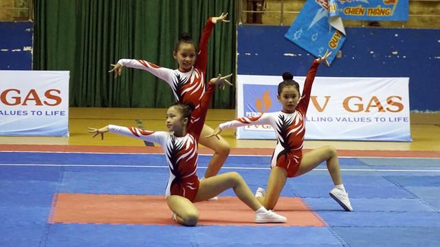 Thành phố Hồ Chí Minh dẫn đầu tại giải Vô địch Trẻ quốc gia Thể dục Aerobic năm 2019 - Ảnh 1.