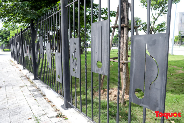 Toàn cảnh công viên âm nhạc với hình dáng cây đàn ghita sắp hoàn thiện ở Hà Nội - Ảnh 5.