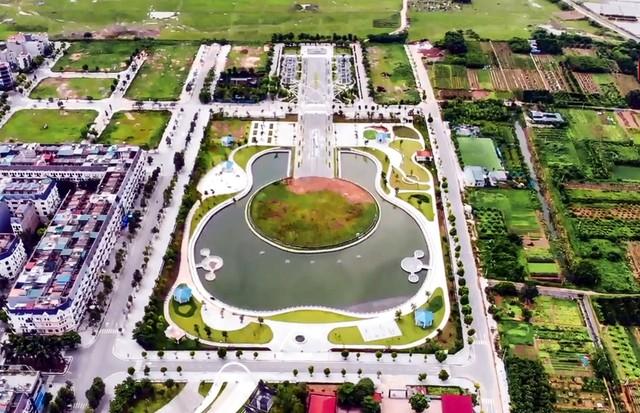 Toàn cảnh công viên âm nhạc với hình dáng cây đàn ghita sắp hoàn thiện ở Hà Nội - Ảnh 1.