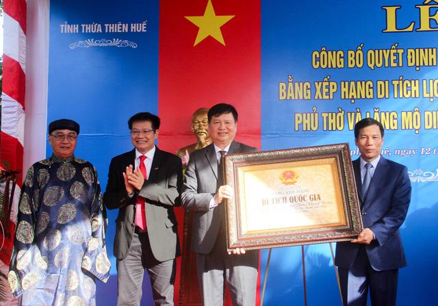 Phủ thờ và Lăng mộ Diên Khánh Vương đón nhận bằng xếp hạng Di tích quốc gia - Ảnh 3.