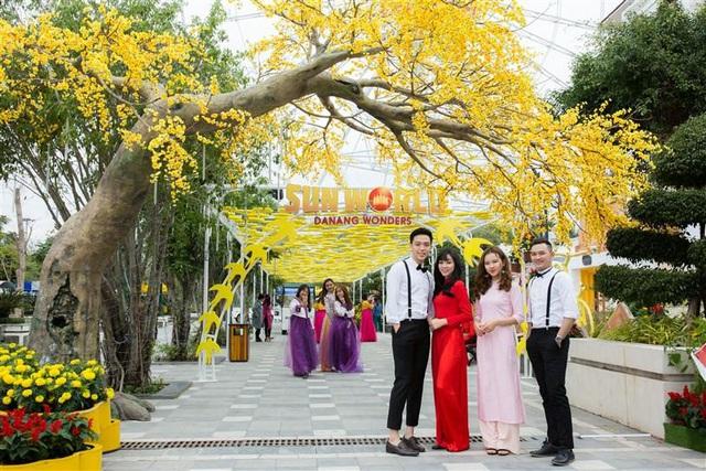 Tết này, Đà Nẵng đã có lễ hội hoa Xuân Phát Tài còn rực rỡ hơn - Ảnh 4.
