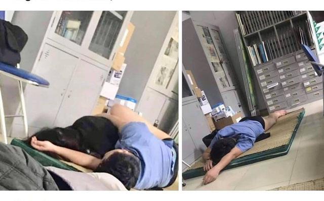 Nghệ An: Xác minh hình ảnh bác sĩ trực ôm nữ sinh viên ngủ trong bệnh viện - Ảnh 2.
