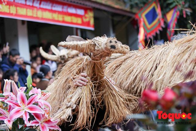 Lạ kỳ lễ hội trâu rơm, bò rạ ở đồng bằng sông Hồng - Ảnh 4.