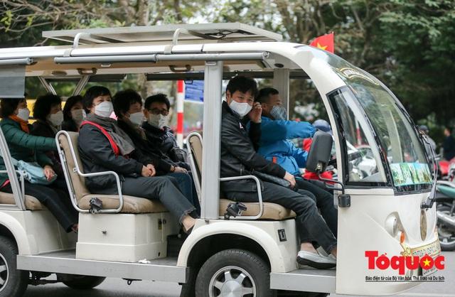 Đề phòng mắc nCoV, người dân thủ đô không rời khẩu trang y tế khi du xuân - Ảnh 3.