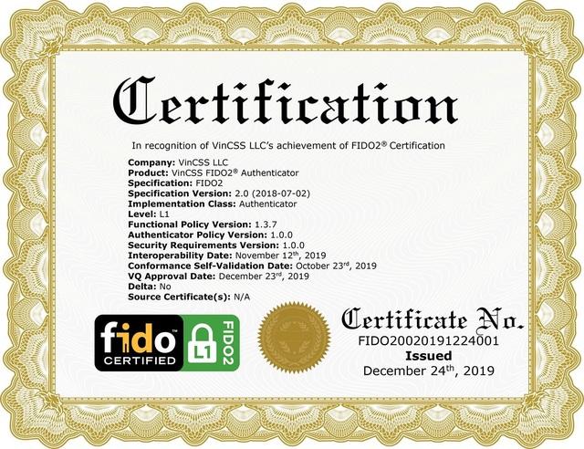 Vingroup là một trong 34 công ty đạt xác thực bảo mật FIDO2 toàn cầu - Ảnh 3.