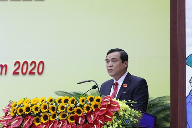 Bí thư Tỉnh ủy Quảng Nam Phan Việt Cường đọc diễn văn khai mạc.