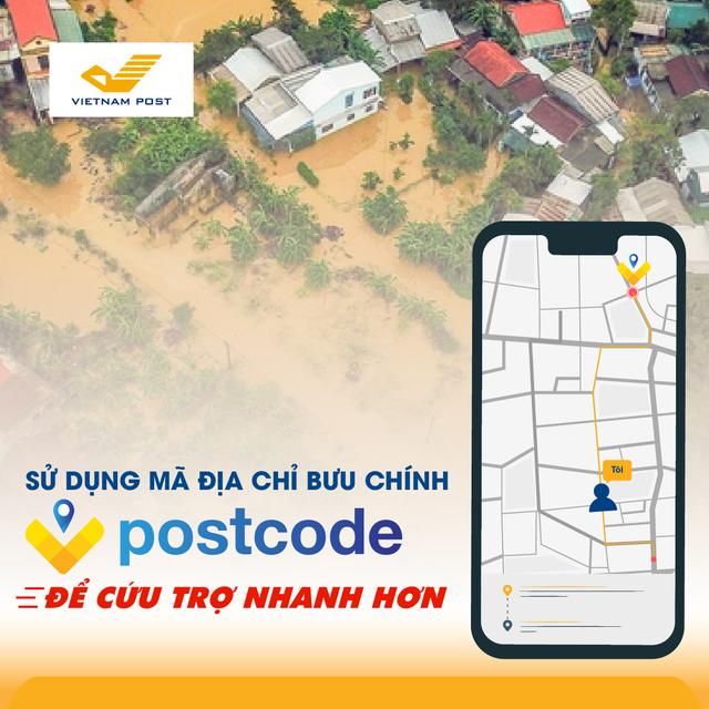 Ứng dụng mã địa chỉ Vpostcode để cứu trợ người dân vùng lũ miền Trung nhanh hơn - Ảnh 1.