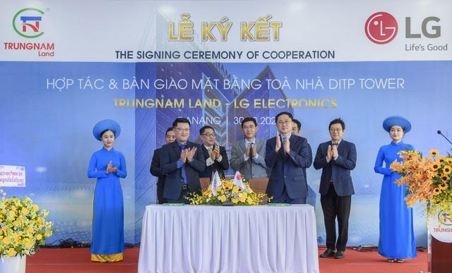 Ký kết hợp tác và bàn giao mặt bằng giữa Trungnam Land và LG Electronics - Ảnh 1.