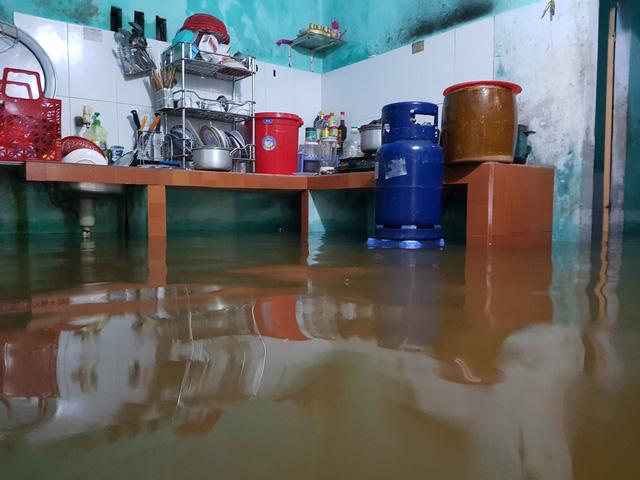 Nhiều nhà dân ở Đà Nẵng ngập sâu, người dân phải di chuyển bằng ghe - Ảnh 3.
