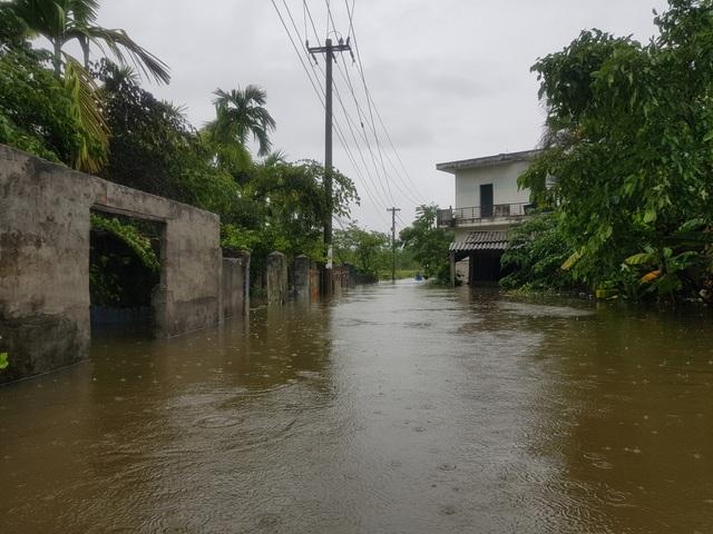 Nhiều nhà dân ở Đà Nẵng ngập sâu, người dân phải di chuyển bằng ghe - Ảnh 5.