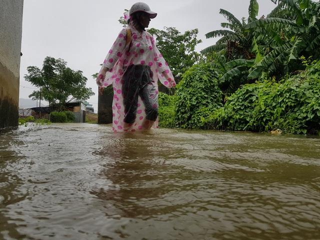 Nhiều nhà dân ở Đà Nẵng ngập sâu, người dân phải di chuyển bằng ghe - Ảnh 6.