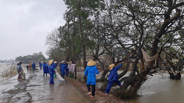 Quảng Bình: Đội mưa gió dọn rác sau lũ - Ảnh 6.