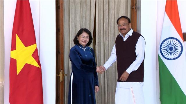 Phó Chủ tịch nước Đặng Thị Ngọc Thịnh hội đàm với Phó Tổng thống Ấn Độ - Ảnh 1.