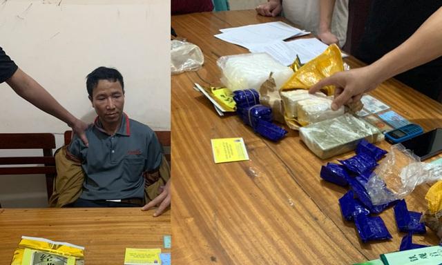 Nghệ An: CSGT tóm gọn đối tượng vận chuyển ma túy, mang 2 chai xăng để phi tang - Ảnh 2.
