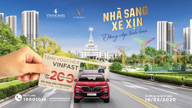 Mua nhà Vinhomes tặng Voucher xe Vinfast lên tới 200 triệu - Ảnh 1.