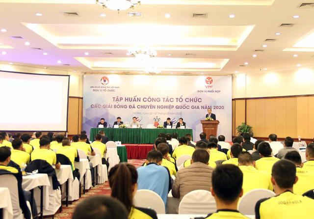 Khai mạc Tập huấn công tác tổ chức các giải chuyên nghiệp quốc gia năm 2020 - Ảnh 2.