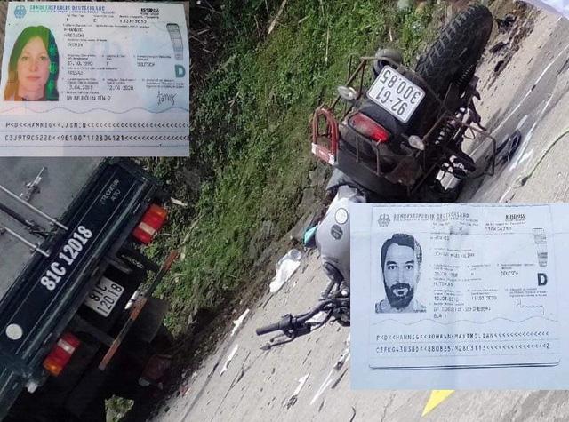 Ô tô đối đầu xe máy khiến 2 người quốc tịch Đức tử vong - Ảnh 1.