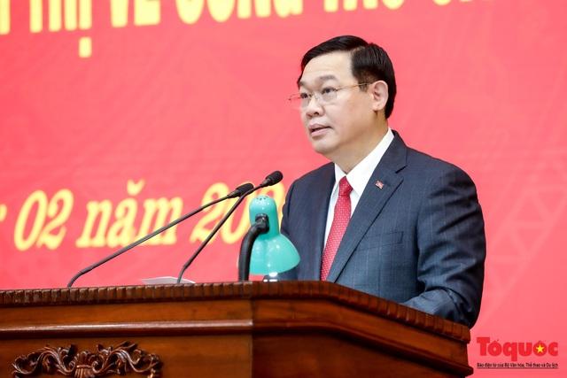 Công bố quyết định Phó Thủ tướng Vương Đình Huệ giữ chức vụ Bí thư Thành ủy Hà Nội  - Ảnh 4.