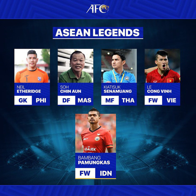 AFC xướng tên Lê Công Vinh là 1 trong 5 huyền thoại bóng đá Đông Nam Á - Ảnh 1.