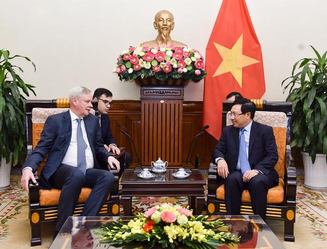 Phó Thủ tướng, Bộ trưởng Ngoại giao Phạm Bình Minh tiếp Thứ trưởng thứ nhất Bộ Ngoại giao Nga sang dự Đối thoại chiến lược Việt – Nga lần thứ 11  - Ảnh 1.