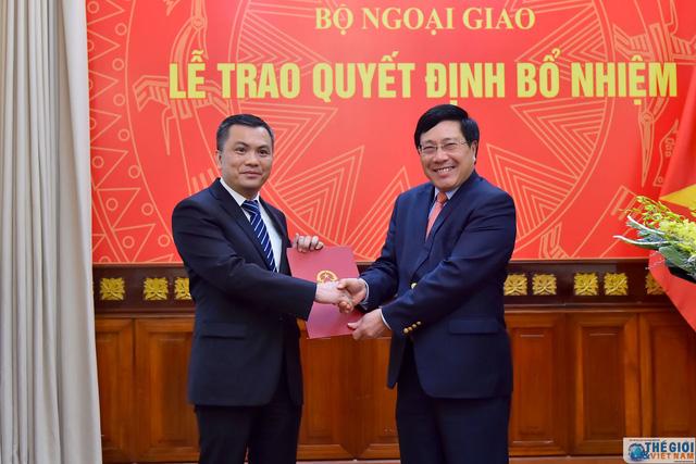 Trao quyết định bổ nhiệm Vụ trưởng Vụ Đông Bắc Á, Bộ Ngoại giao - Ảnh 1.