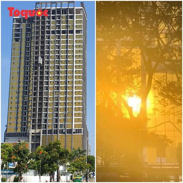 Chủ tịch Đà Nẵng yêu cầu xử lý sai phạm tại hai tòa nhà ốp kính vàng phản quang gây chói mắt - Ảnh 2.