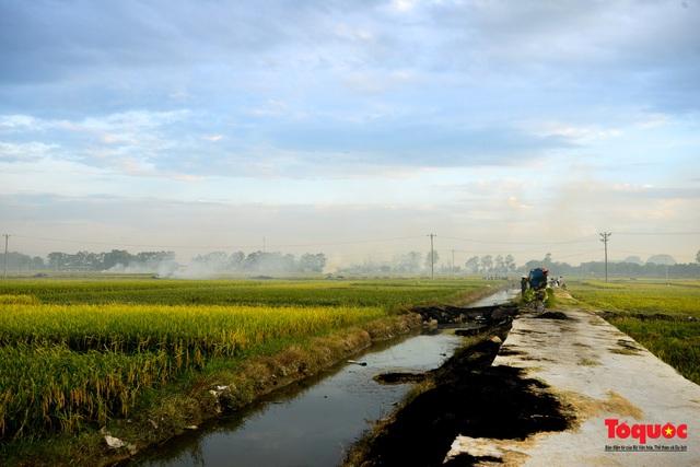 Nông dân lại đốt rơm rạ, khói bụi đang bủa vây ngoại thành Hà Nội - Ảnh 9.