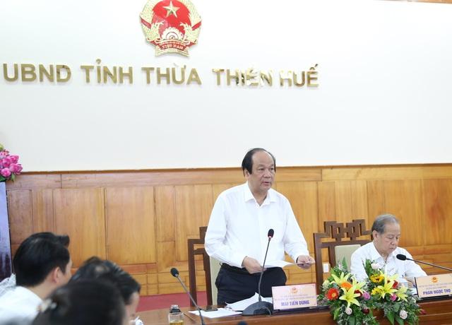 Bộ trưởng, Chủ nhiệm VPCP làm việc với Thừa Thiên Huế - Ảnh 1.