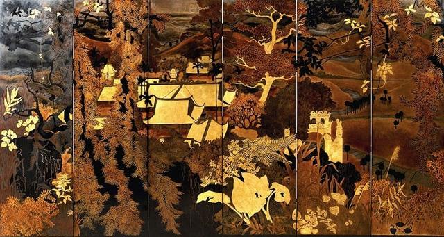 Vẻ đẹp thanh bình của thiên nhiên trong tranh sơn mài của Phạm Hậu - Ảnh 1.