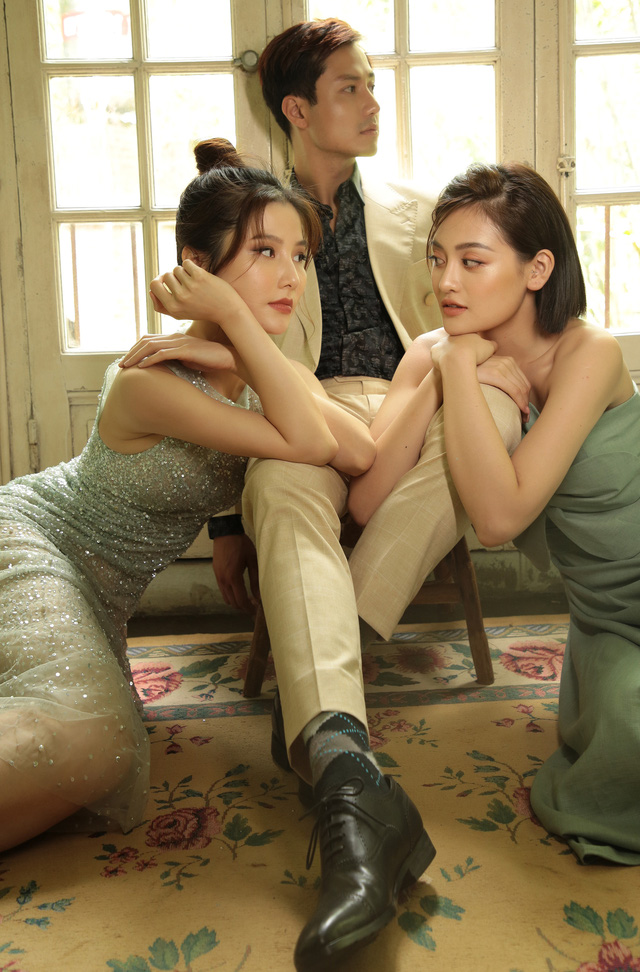 Thanh Sơn, Diễm My 9X và Thùy Anh rủ nhau chụp ảnh kể chuyện tình tay ba - Ảnh 2.
