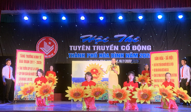 TP. Hòa Bình: Tổ chức Hội thi Tuyên truyền cổ động năm 2020 - Ảnh 1.