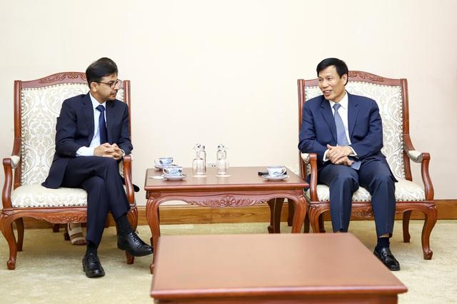 Bộ trưởng Nguyễn Ngọc Thiện tiếp Đại sứ Đặc mệnh toàn quyền Ấn Độ tại Việt Nam - Ảnh 1.