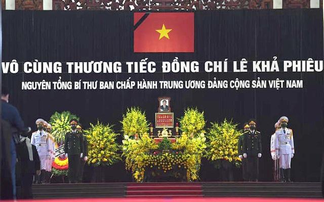Sáng nay, tổ chức trọng thể lễ viếng nguyên Tổng Bí thư Lê Khả Phiêu với nghi thức Quốc tang - Ảnh 2.