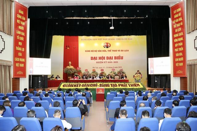 Khai mạc Đại hội đại biểu Đảng bộ Bộ Văn hóa, Thể thao và Du lịch nhiệm kỳ 2020 - 2025 - Ảnh 4.